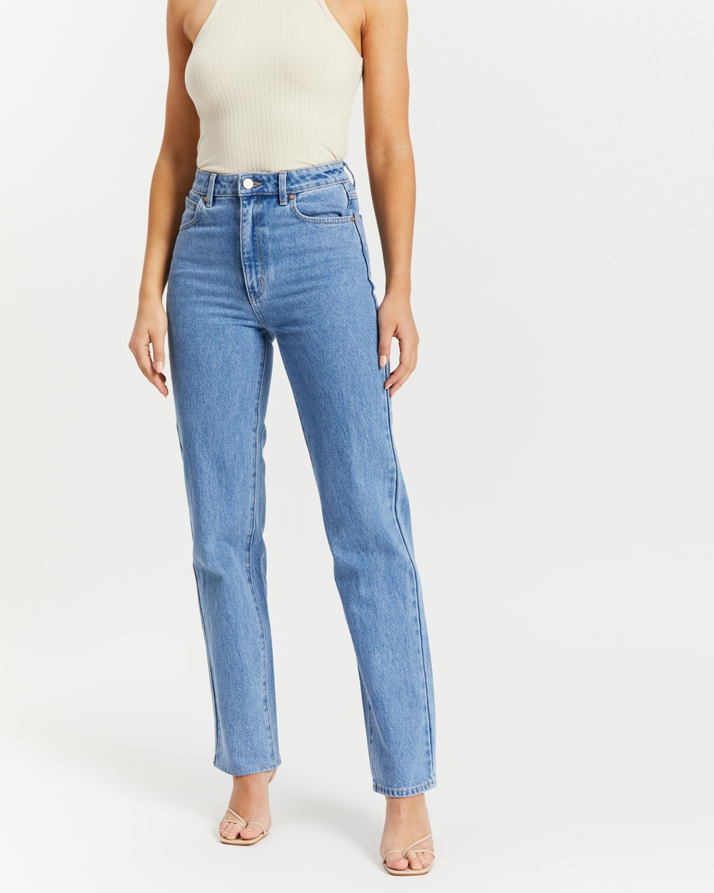 Abrand A '94 High Straight Jeans High-Waisted Lucy Organic