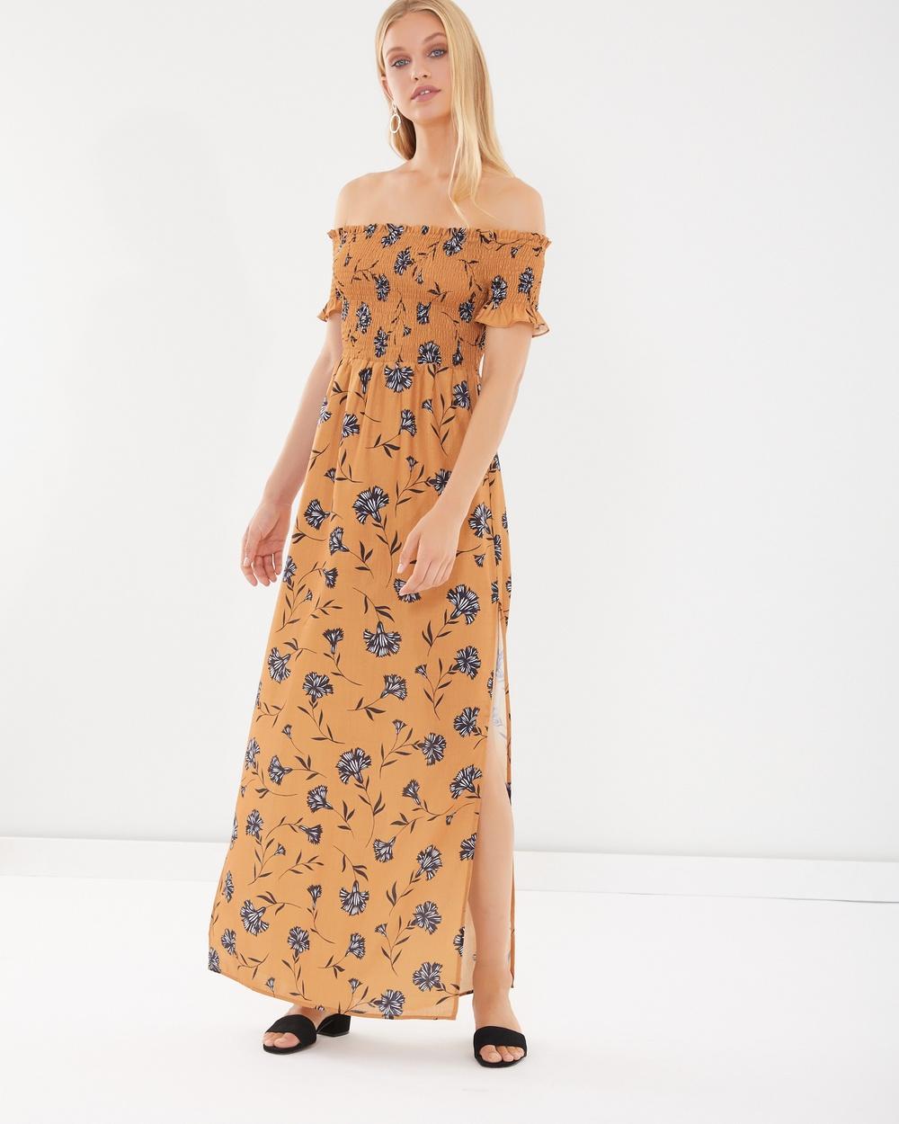 Calli Emmie Maxi Dress Dresses Belinda Mustard Floral Emmie Maxi Dress