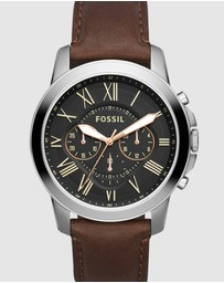 Fossil - Grant Dark Brown Chronograph Watch