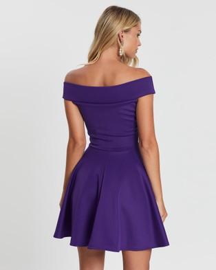 Loreta Festive Dress - Dresses (Purple)