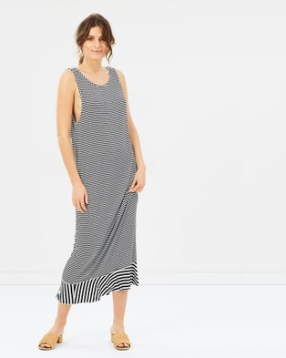 COOP by Trelise Cooper – Long Distance Dress Black & White