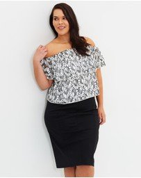 Atmos&Here Curvy - ICONIC EXCLUSIVE - Cecilia Ponte Pencil Skirt