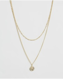 Serge DeNimes - St Christopher Multi Chain Necklace