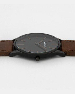 DUKUDU Quinten 45mm - Watches (Black - Tan)