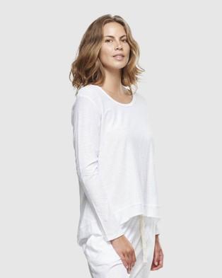 Cloth & Co. Organic Cotton Slub Long Sleeve - T-Shirts & Singlets (White)