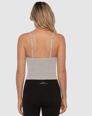 Lorna Jane Athletic Cropped Tank - Muscle Tops (Concrete Grey)