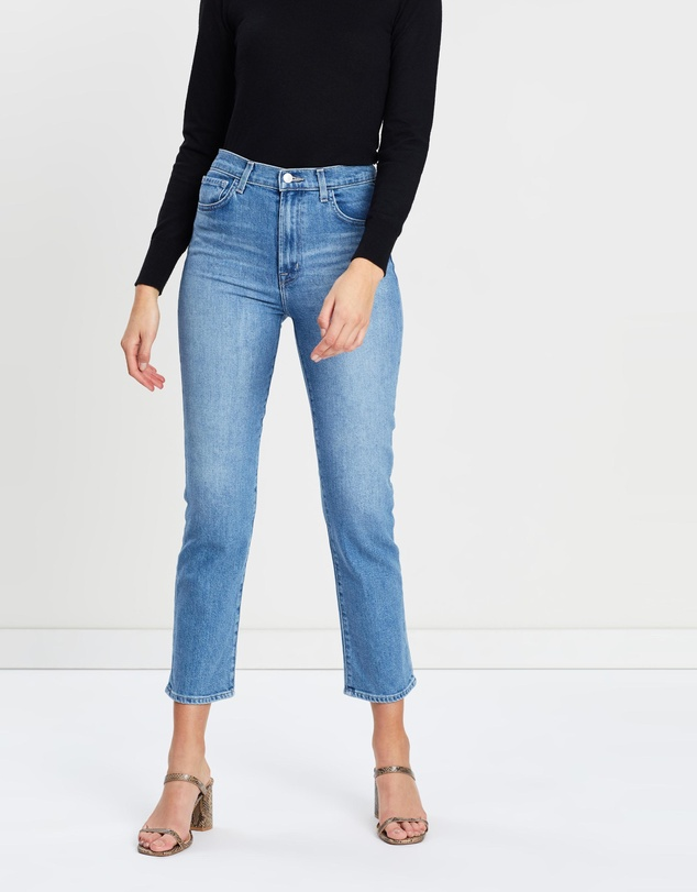 Jules High Rise Straight Leg Jeans by J Brand