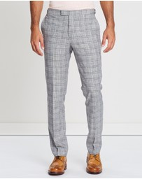 REISS - Ned Tailored Check Trousers