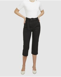 ARIS - Belted Cropped Pants