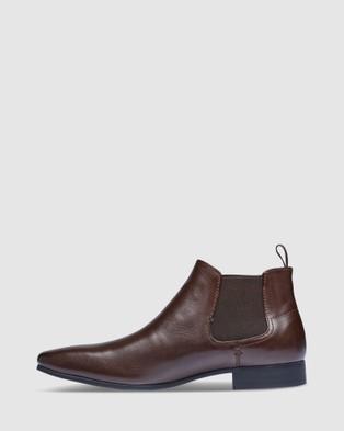 Tarocash New Acton Gusset Boots - Dress Shoes (CHOCOLATE)