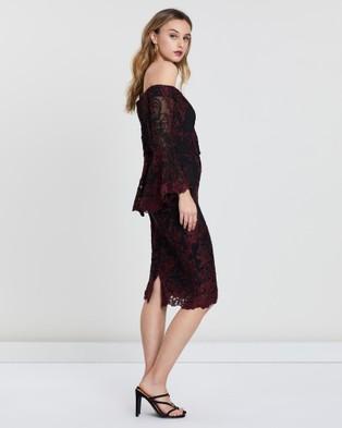 Montique Stephanelle Lace Dress - Dresses (Red)