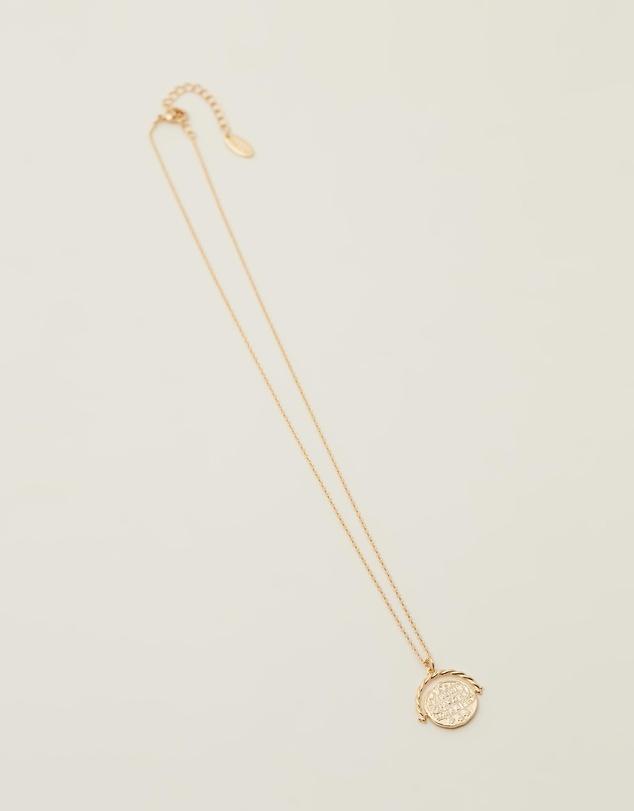 Women Medallion Spinner Necklace