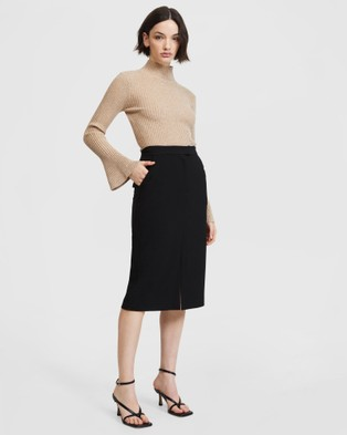 ARIS Pocket Pencil Skirt V2 - Pencil skirts (Black)