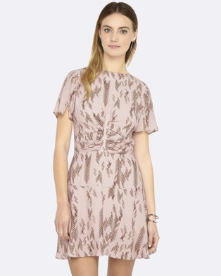 Oxford – Zoe Aztec Dress Rose Rose