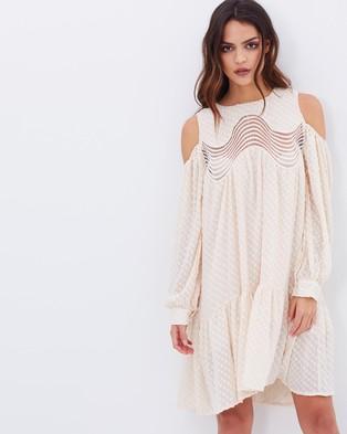 Dark Pink – Spot Tent Dress – Dresses (Ivory)