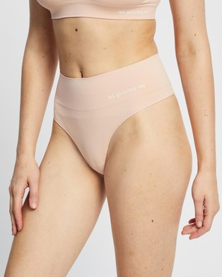 Les Girls Les Boys Semi Sheer Thong - Thongs & G-Strings (Dusty Pink)