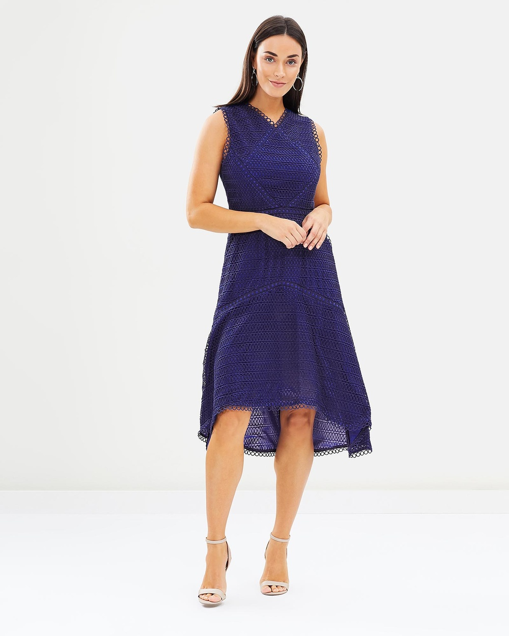 Honey and Beau Isabelle High Low Hem Dress Dresses Cobalt Isabelle High Low Hem Dress