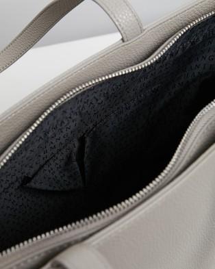 Armani Exchange Zip Top Shopping Bag - Bags (Mud)