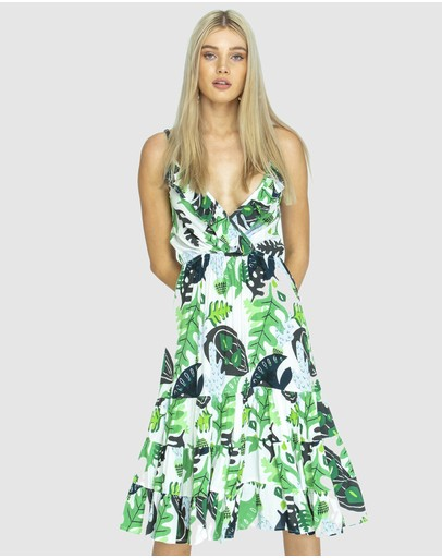 State Of Georgia Original Beach Dress Cactus Green