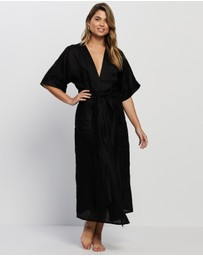 Le Buns - Lily Premium Linen Robe - THE ICONIC Exclusive