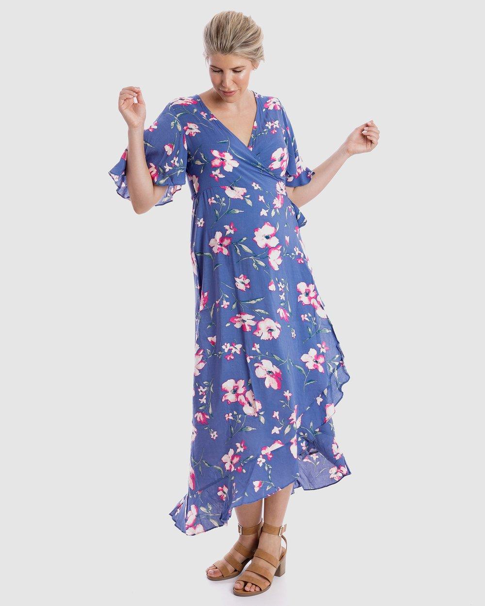 90e2b6c13b36c Harlow Maternity & Nursing Wrap Dress by Maive & Bo Online   THE ICONIC    Australia
