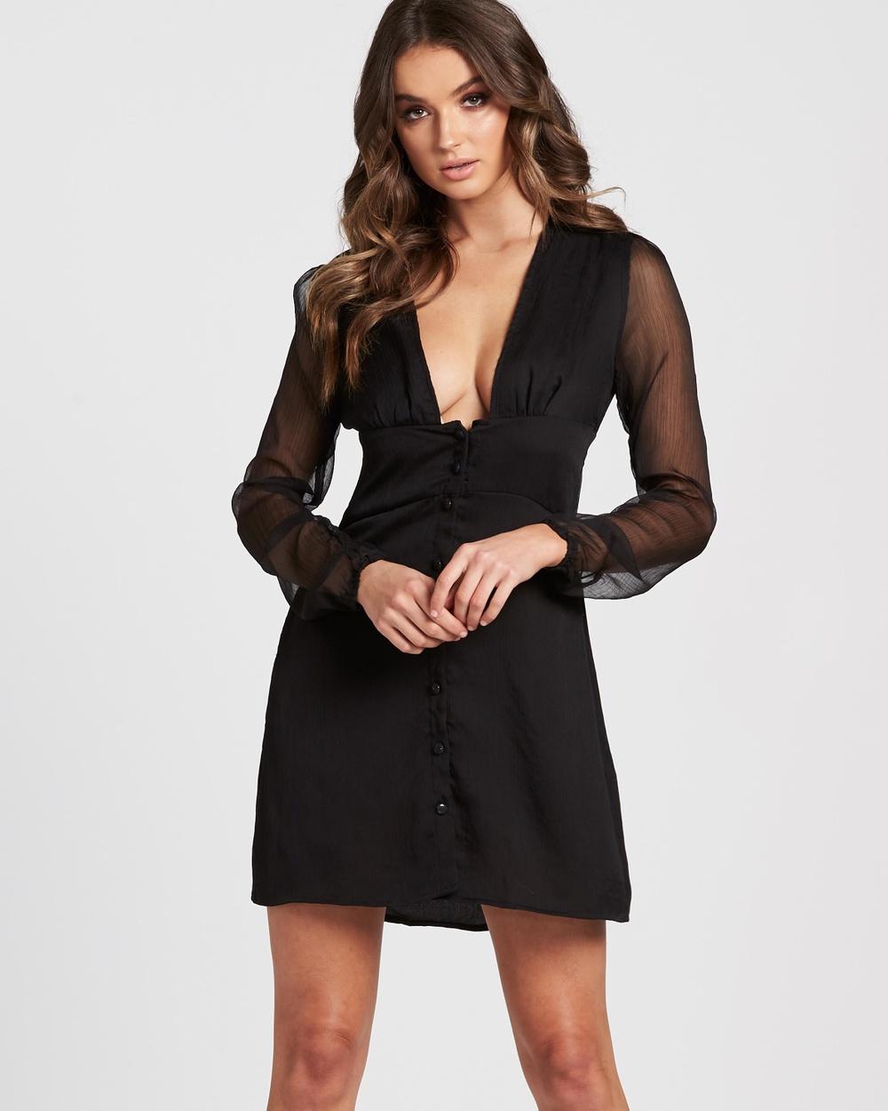Lioness American Sweetheart Mini Dress Dresses Black American Sweetheart Mini Dress