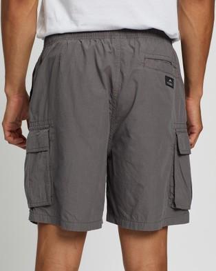 Rusty Safari Elastic Cargo Shorts - Shorts (Gunmetal)