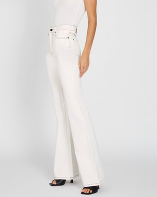 BY JOHNNY. Johnny Flare Jeans - High-Waisted (White)