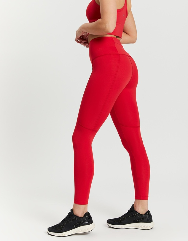 Women Soft Touch Compression Waist Pocket Full Tights