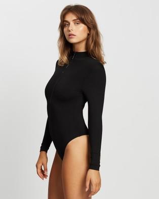 BONDI BORN Reese Rashguard One Piece - One-Piece / Swimsuit (Black)