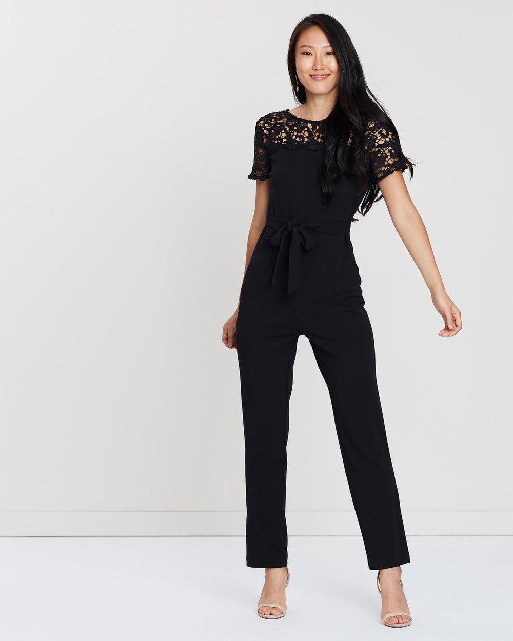 0e5fb661e1e8 Lace Mix Jumpsuit by Dorothy Perkins Online
