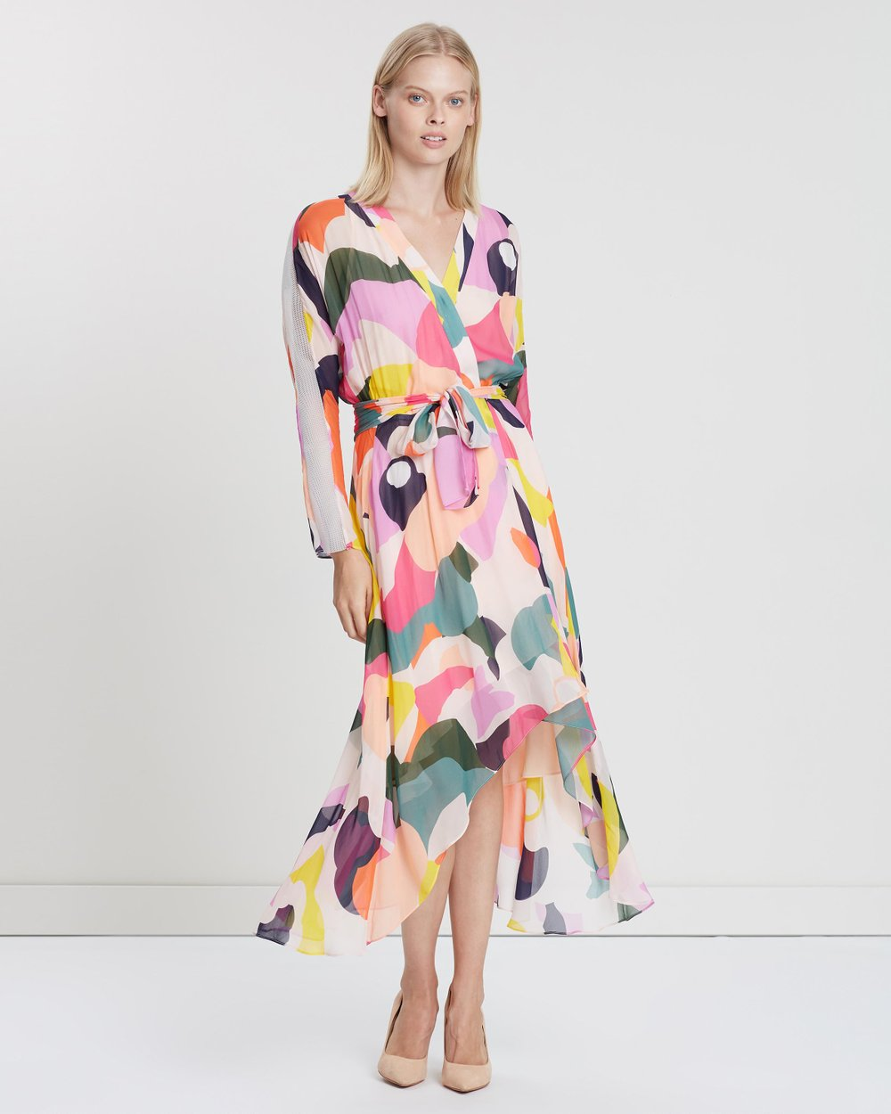 5c022fef888 Chroma Wrap Dress by Ginger   Smart Online