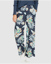 Roxy - Womens Midnight Avenue Wide Leg Printed Pants