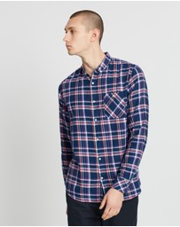 Knowledge Cotton Apparel - Checked Button-Down Shirt