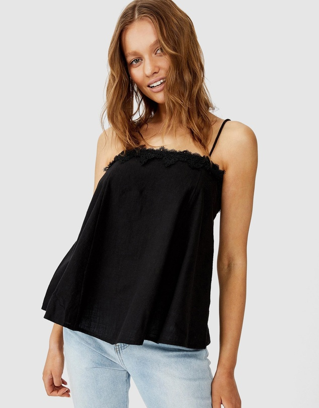 Cotton On - Wild Heart Lace Trim Cami