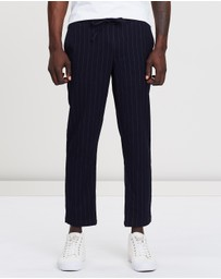 Staple Superior - Cohen Pinstripe Pull-On Pants