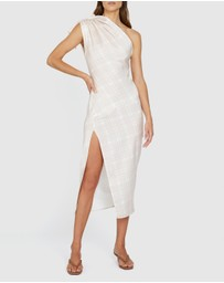 BY JOHNNY. - Sliced Out Asymmetric Dress