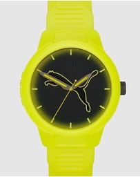 Puma - Reset V2 Yellow Analogue Watch