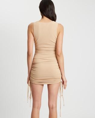BWLDR Lisa Mini Dress - Bodycon Dresses (Tan)