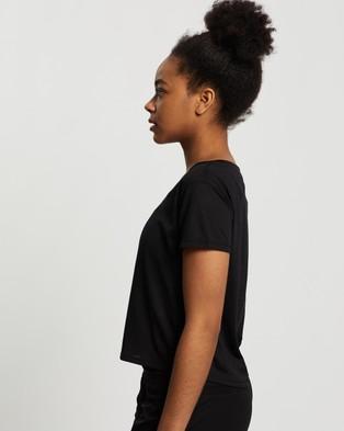 ASICS Race Crop SS Top - Short Sleeve T-Shirts (Performance Black)