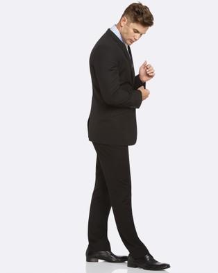 Kelly Country Livorno Essential Slim Fit Black Suit - Suits & Blazers (Black)