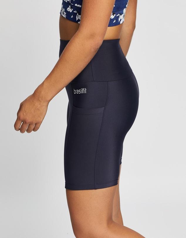 Women High-Waisted Bike Shorts with Pockets