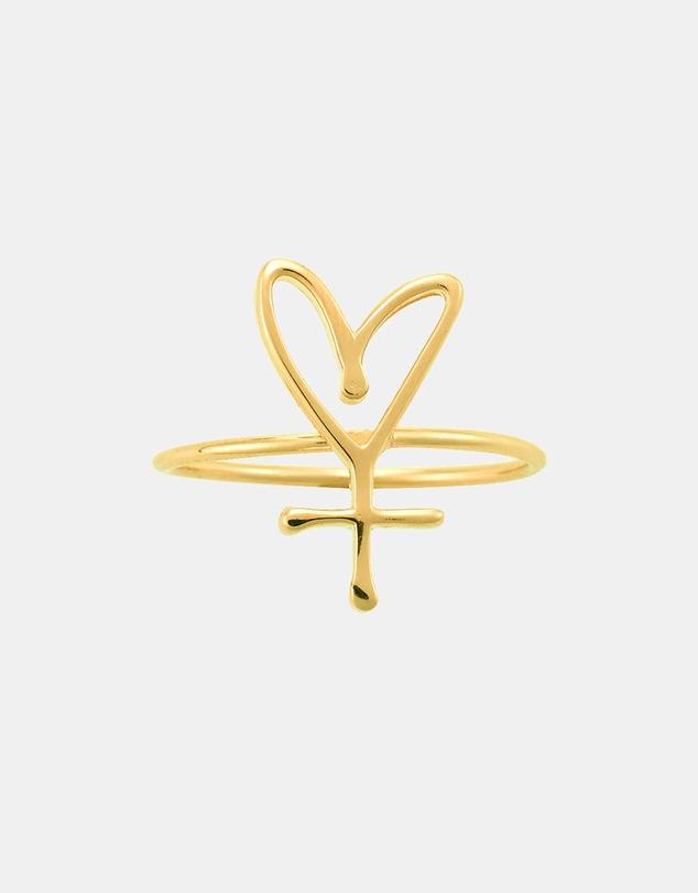 Women Large Symbol Sisterhood Ring