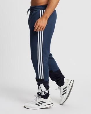 adidas Performance Essentials Logo Colourblock Cuff Pants Sweatpants Crew Navy