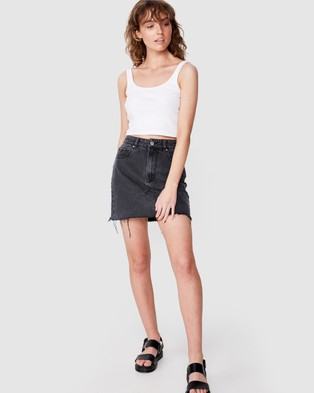 Cotton On The Classic Denim Skirt - Denim skirts (Super Washed Black)