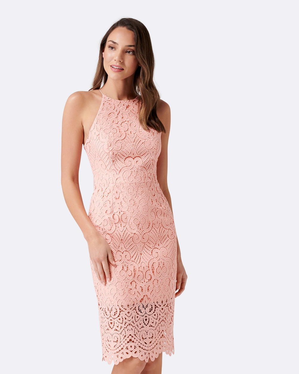 Forever New Debbie Lace Pencil Dress Bridesmaid Dresses Butterfly Pink Debbie Lace Pencil Dress