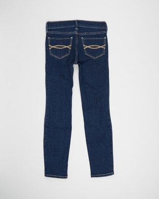 Abercrombie & Fitch Mid Rise Super Skinny Jeans   Kids Teens - Jeans (Basic Dark Destroy)