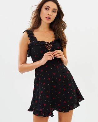 Buy Lioness - Hamptons Mini Dress - Printed Dresses Roses Black -  shop Lioness dresses online