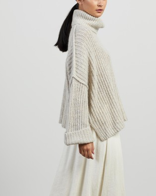 Apartment Clothing Jed Mohair Cropped Turtleneck - Jumpers & Cardigans (Vapour)