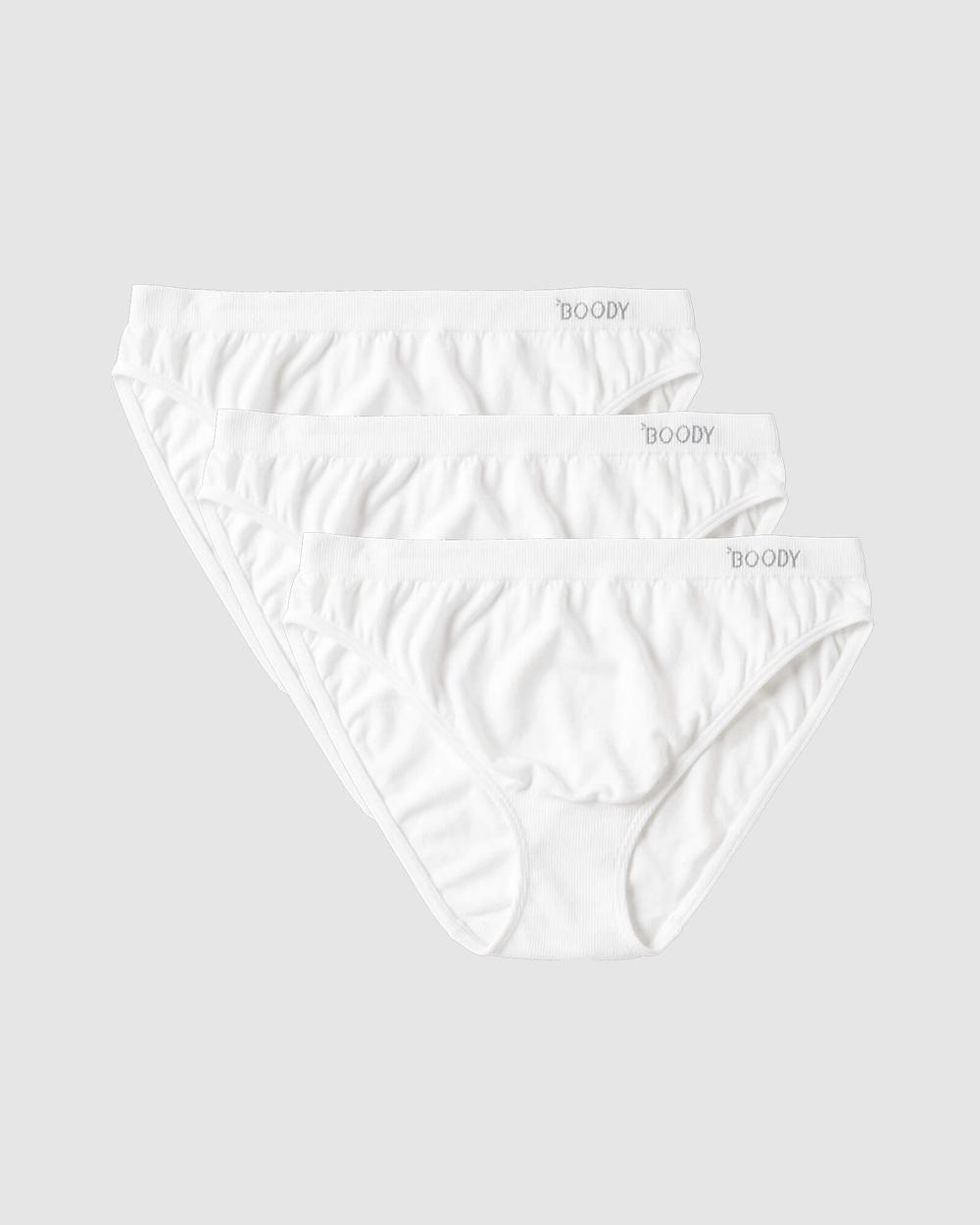 Boody 3 Pack Classic Bikini Briefs White 3-Pack Australia